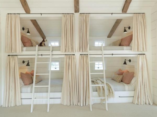 Built in bunk beds 665x498 Kreveti na sprat: Komfor i trend