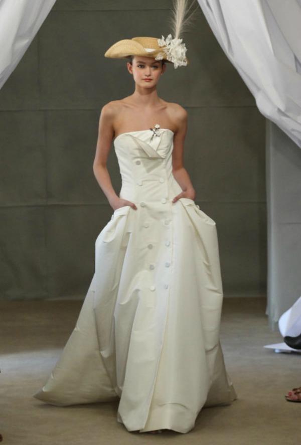 Carolina Herrera Bridal Gown Nedelja venčanja u Njujorku