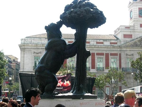 Slika 127 Trk na trg: Plaza de Santa Ana, Madrid