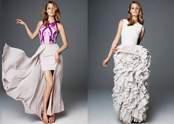 Slika 129 Modni zalogaji: Večernje haljine i naslovne strane