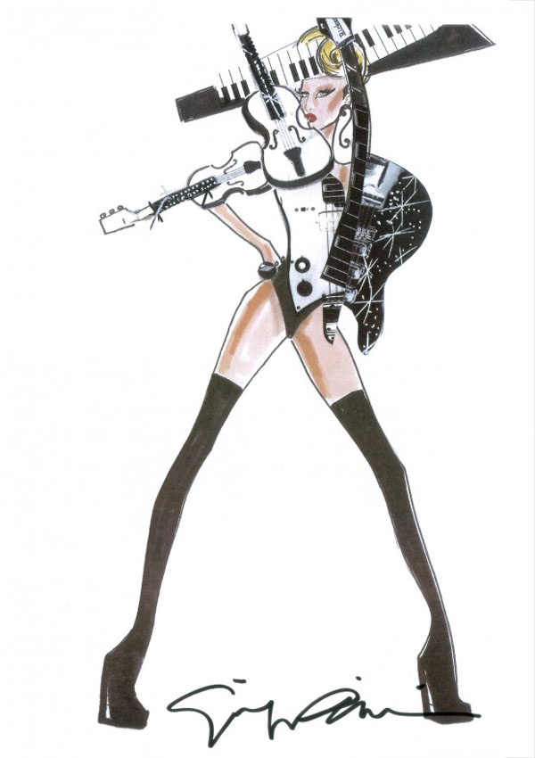 Slika 140 Modni zalogaji: Gola Heidi Klum, Armani i Lady Gaga