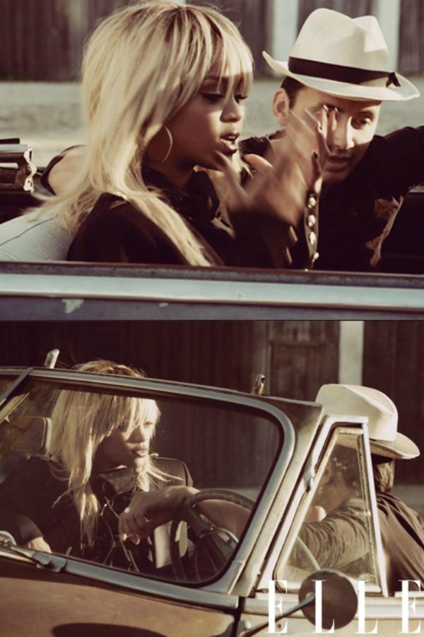 "close ups in the car ""Elle US"": Rihanna i kubanske noći"