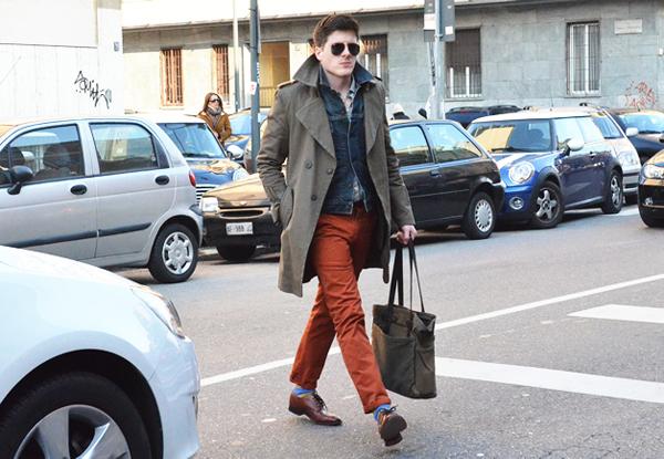 gqmenmilan41 Street Style: Dame, upoznajte džentlmene