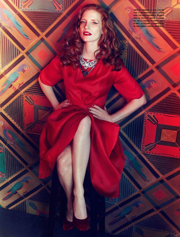 jessica italia 10 Vogue Italia: Glamur na delu