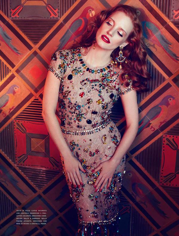jessica italia 8 Vogue Italia: Glamur na delu