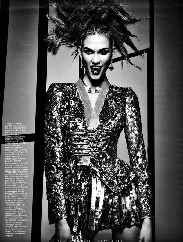 karlie w 8 W Magazine: Visoka moda