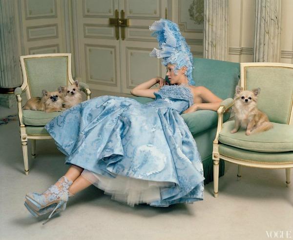"""katemossvogueusapril20123 """"Vogue US"""": Romantična pariska bajka"""