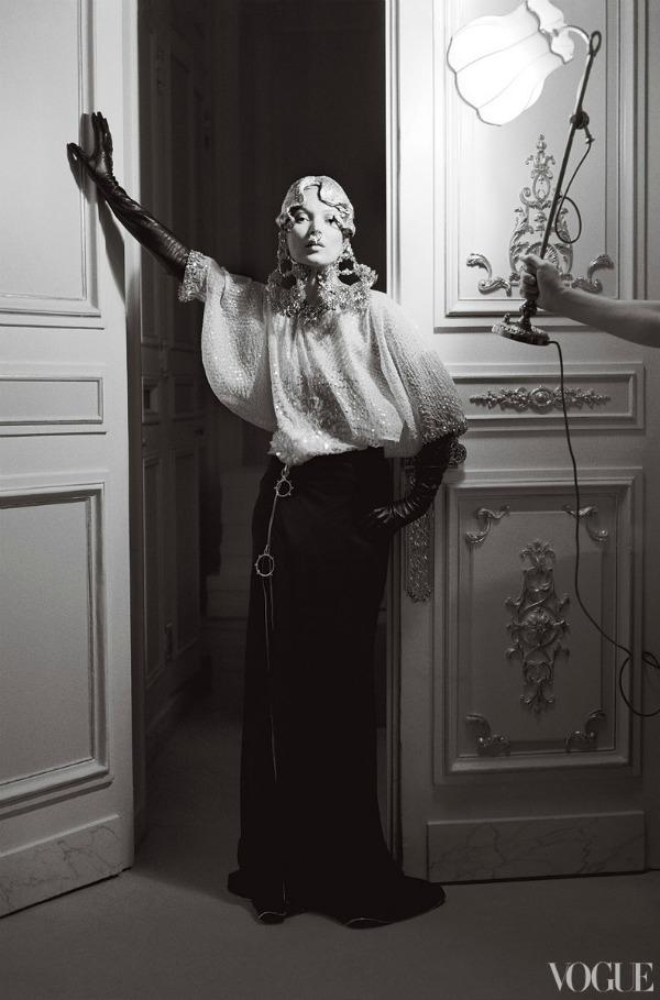 """katemossvogueusapril20126 picnik """"Vogue US"""": Romantična pariska bajka"""