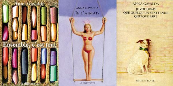 kolazh Usred(u) čitanja: Anna Gavalda