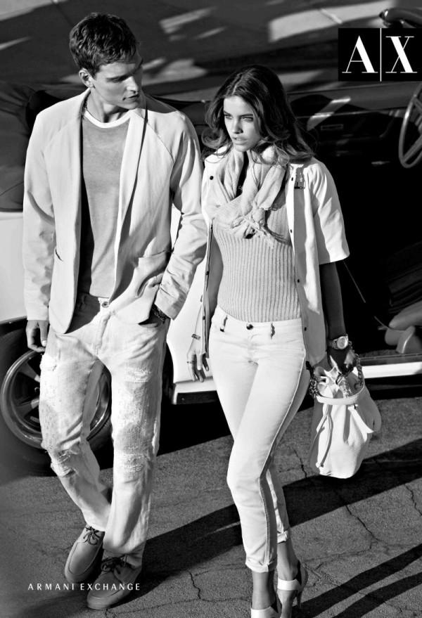 326 Armani Exchange: Moderni crno beli par