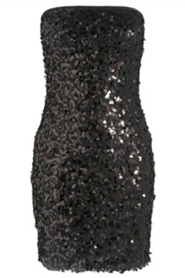 Black Bandeau Sequin Dress Stil dana: Lauren Conrad