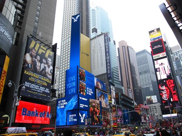 Slika 136 Trk na trg: Times Square, Njujork