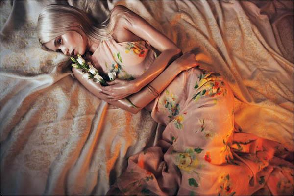 Slika 91 Vogue China: Abbey, romantika i cveće