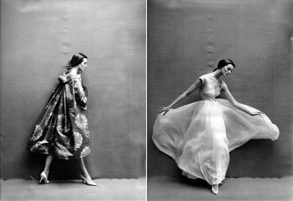 Two photographs by Richard Avedon. Fotografija i moda: Dodir zlatnog Holivuda