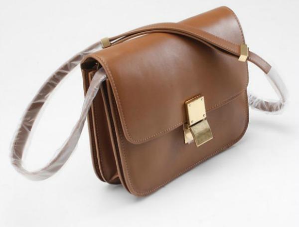 celine classic box light brown bag leather shoulder new 0e0f Stil dana: Zoe Saldana