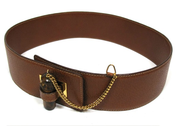 gucci brown leather belt Stil dana: Jennifer Aniston