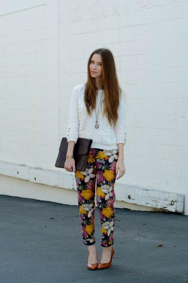 slika 10 Cvetne pantalone