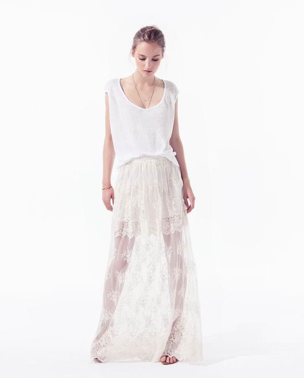 slika 132 Zara TRF: Iscepani džins, čipka i rese