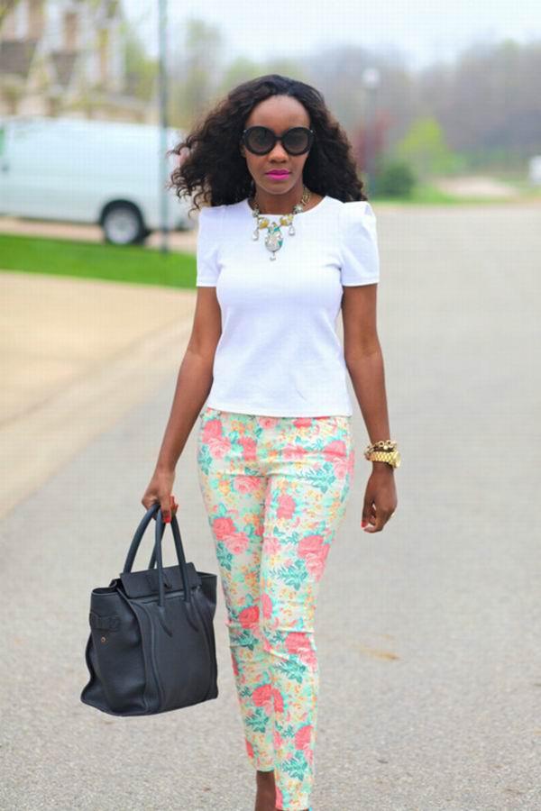 slika 21 Cvetne pantalone