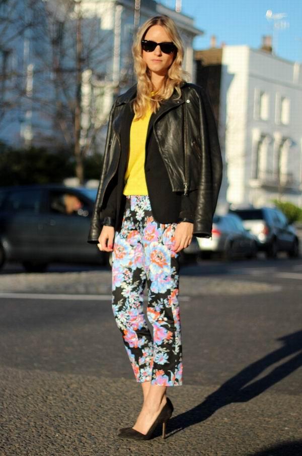 slika 31 Cvetne pantalone