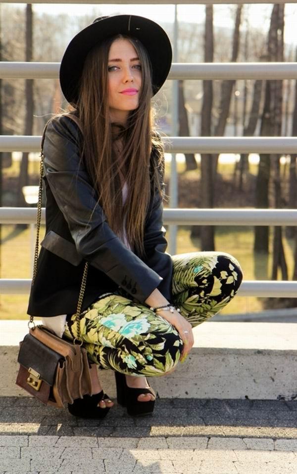 slika 41 Cvetne pantalone