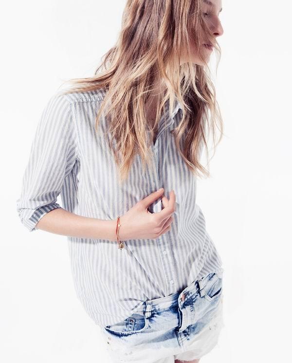 slika 416 Zara TRF: Iscepani džins, čipka i rese