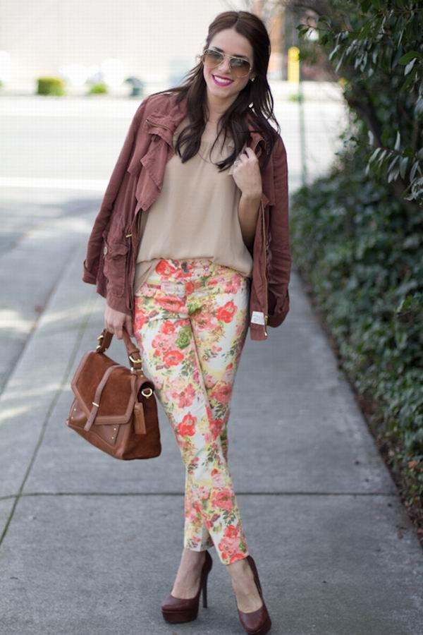 slika 51 Cvetne pantalone