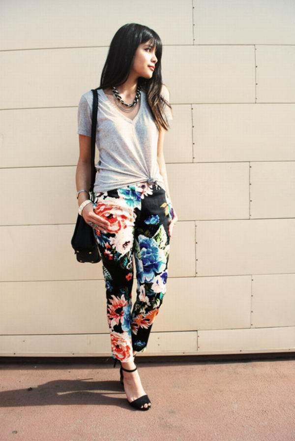 slika 61 Cvetne pantalone