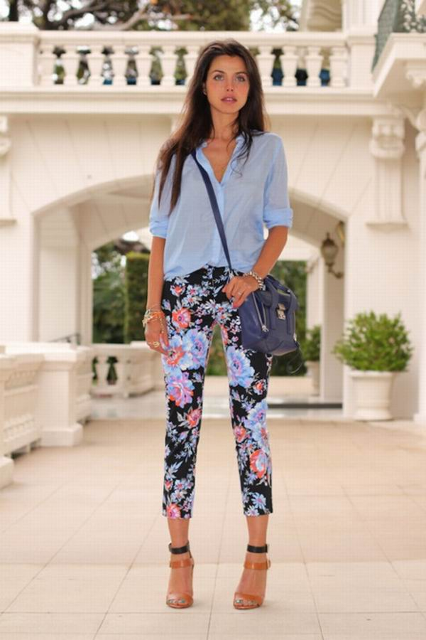slika 7 Cvetne pantalone