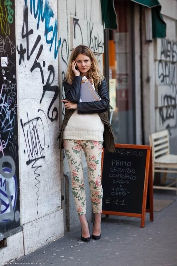 slika 8 Cvetne pantalone