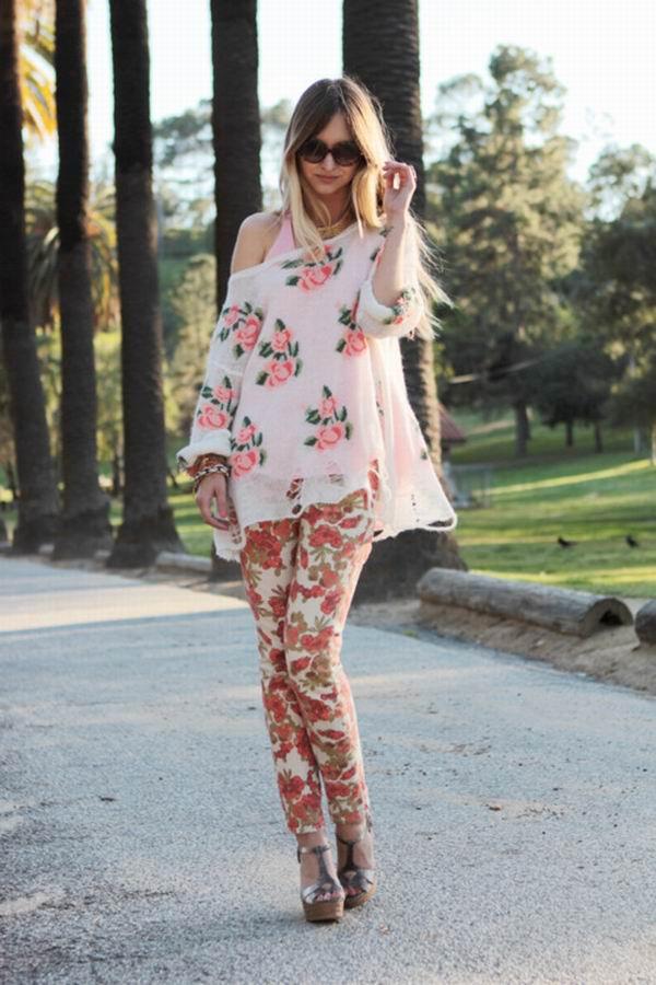 slika 9 Cvetne pantalone