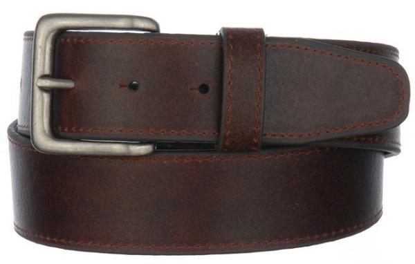 supple leather belt brown pewter NC62399 Stil dana: Zoe Saldana