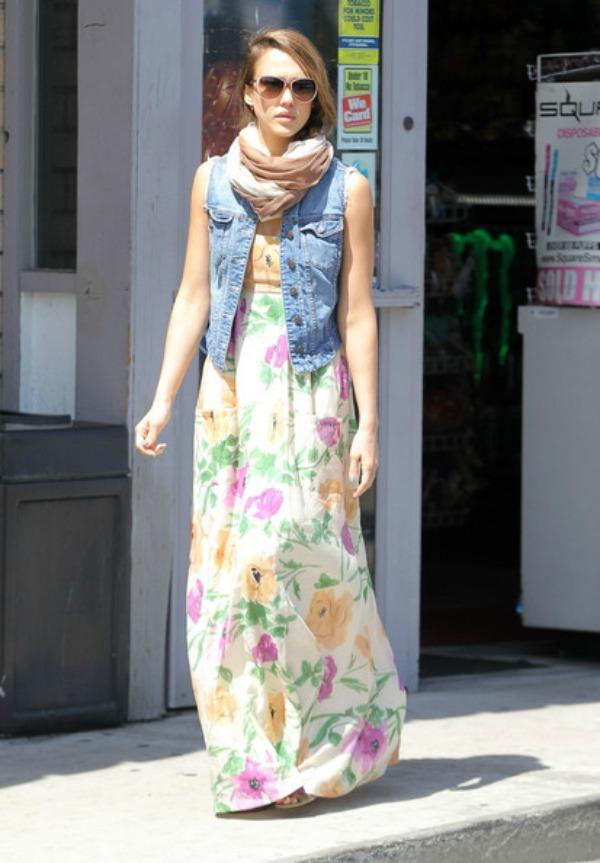 2.Jessica Alba Maksi haljine: Omiljeni komad za leto