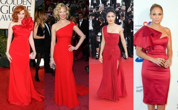 515 Trend sa crvenog tepiha: Crvene haljine