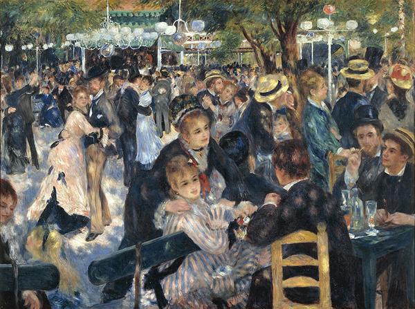 """800px Pierre Auguste Renoir Le Moulin de la Galette4 Šetajući Parizom: """"Musée dOrsay"""""""