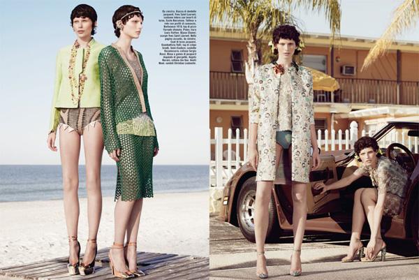 Slika 616 Vogue Italia: Glamur pedesetih
