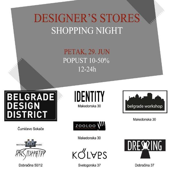 chom Modni zalogaj: Designers Stores Shopping Night