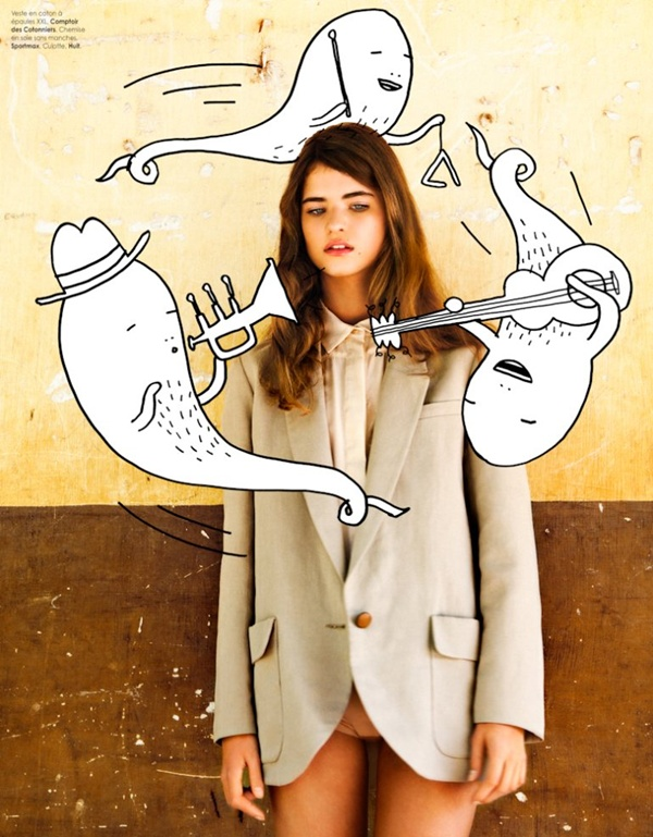 "slika 214 ""Elle Belgium"": Moda i grafiti"