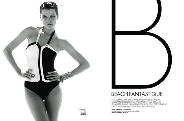 """slika 235 """"Elle Mexico"""": Modiranje na plaži"""
