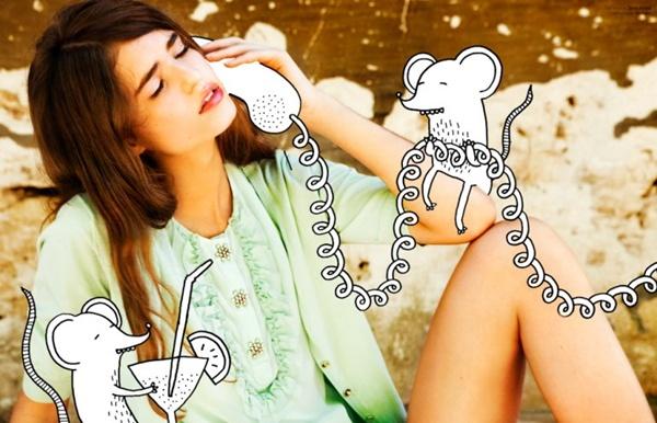 "slika 310 ""Elle Belgium"": Moda i grafiti"
