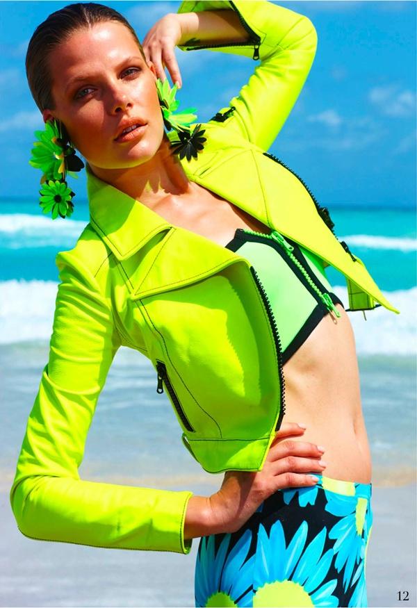 """slika 323 """"Elle Mexico"""": Modiranje na plaži"""