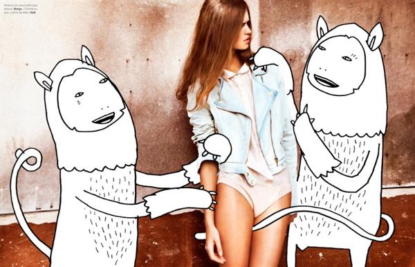 "slika 85 ""Elle Belgium"": Moda i grafiti"