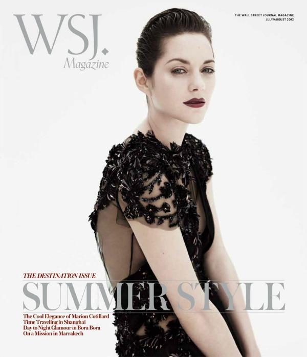 """115 Modni zalogaj: Marion Cotillard za magazin """"WSJ"""""""