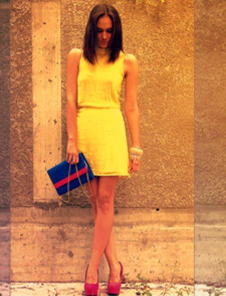 Modni predlog Kaje Strniše: Žuta i pink