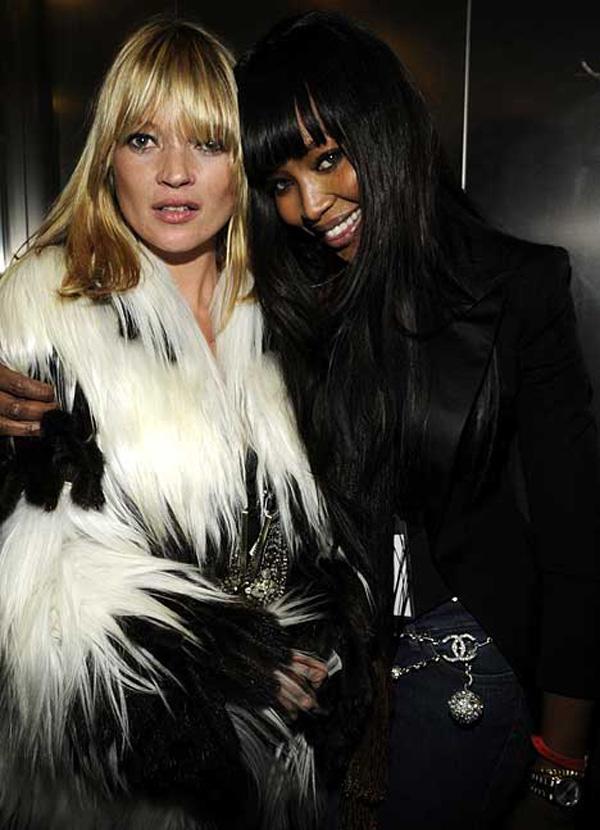 Slika 155 Modni zalogaj: Kate Moss i Naomi Campbell na zatvaranju Olimpijade