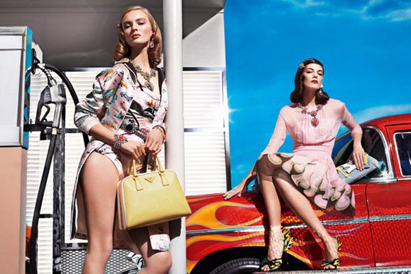 Slika 224 Prada: Retro dame u bojama leta