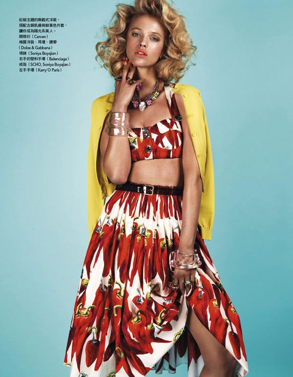 Slika 511 Vogue Taiwan: Retro na sav glas