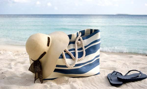 slika 139 Letnji pretres: Sadržaj torbe za plažu