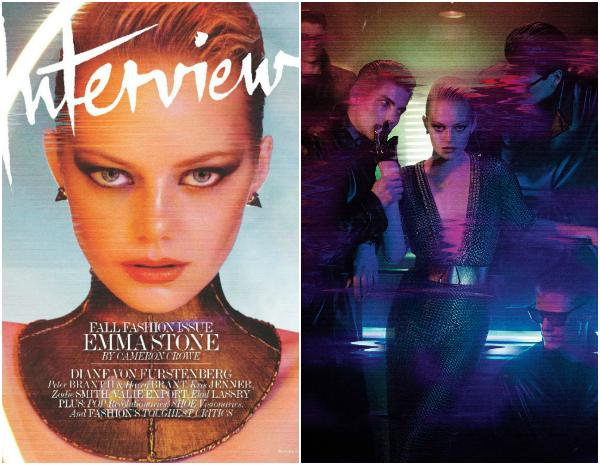 """155 Modni zalogaj: Emma Stone za """"Interview"""""""