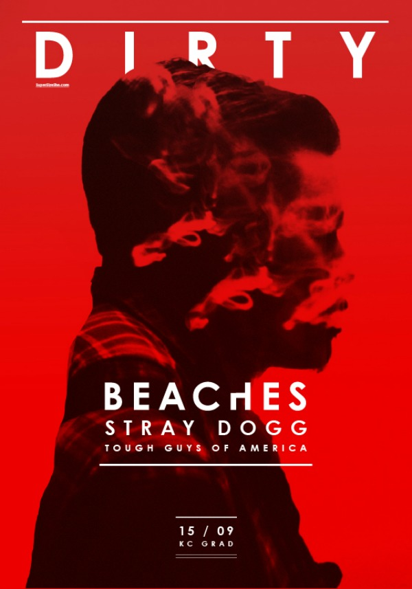 Dirty Beaches Plakat Četvrta sezona Kulturnog centra GRAD